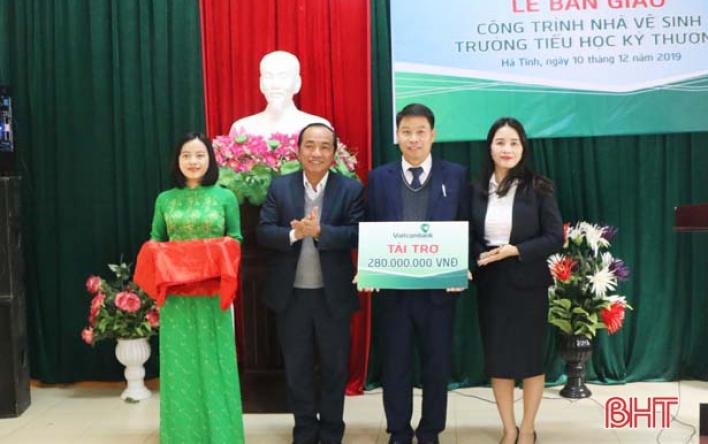 Vietcombank Hà Tĩnh bàn giao công trình phụ trợ...